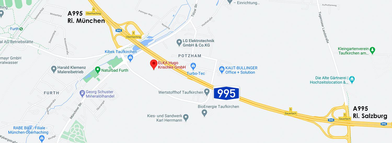 ELKA Hugo Krischke GmbH. Anfahrts-Skizze